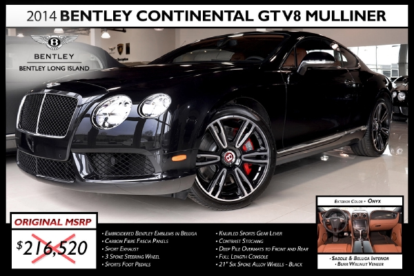 2014 Bentley Continental GT V8 Mulliner