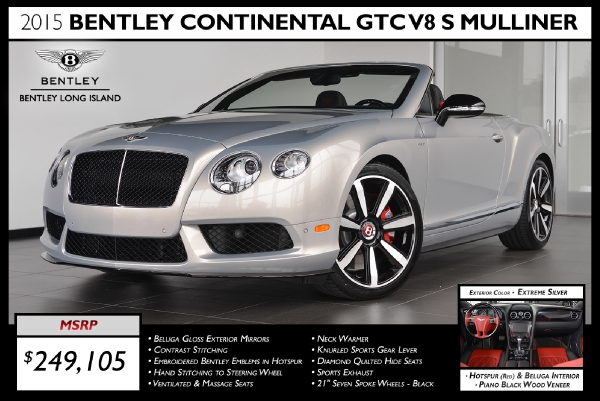 2015 Bentley Continental GTC V8 S Mulliner