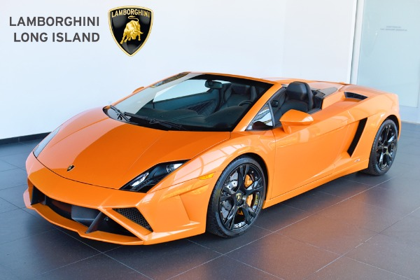 Orange Lamborghini Gallardo Spyder