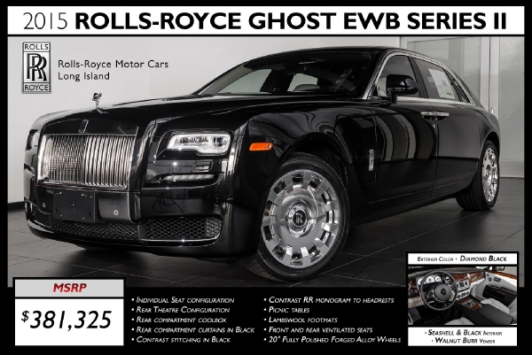 rolls royce phantom 2015 black. 2015 rollsroyce ghost ewb series ii extended wheelbase rolls royce phantom black