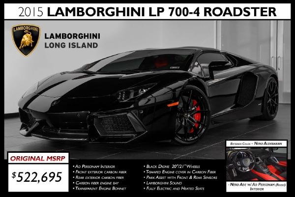 2015 lamborghini aventador lp 700 4 roadster
