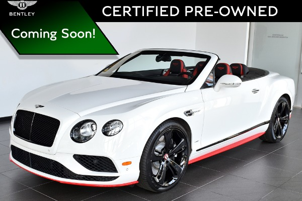 2017 Bentley Continental GT V8 S Convertible Black Edition