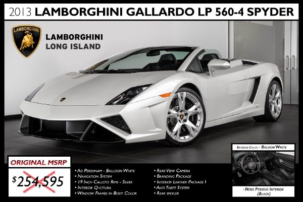2013 Lamborghini Gallardo Lp 560 4 Spyder Bentley Long Island