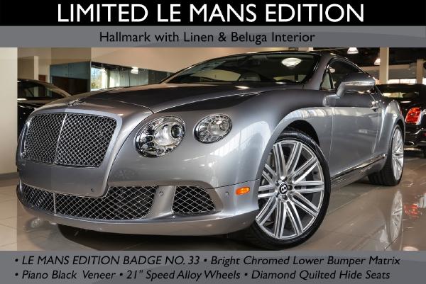 2013 Bentley Continental Gt Le Mans Edition Bentley Long Island